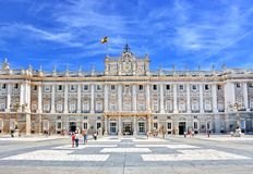 Royal Palace Madrid Spain. Palacio Real de Madrid Royal Palace in Madrid, Spain Royalty Free Stock Image