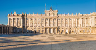 Royal Palace of Madrid, Spain. Royal Palace of Madrid (Palacio Real de Madrid). Built between 1738 and 1755 in Baroque and neo-classic styles. by King Philip V Royalty Free Stock Photos