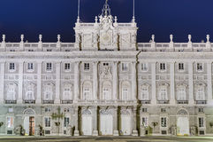 The Royal Palace of Madrid, Spain. Royalty Free Stock Photography