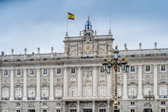 The Royal Palace of Madrid, Spain. Royalty Free Stock Photo