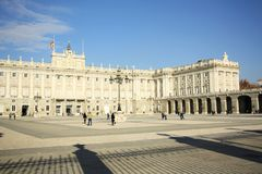 Royal Palace of Madrid, Spain Royalty Free Stock Photography