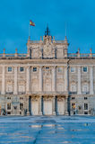 The Royal Palace of Madrid, Spain. Stock Photos