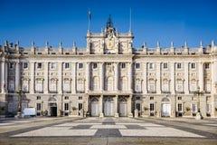 Royal Palace of Madrid. Madrid, Spain at the Royal Palace's courtyard Stock Photo
