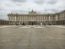 Royal Palace in Madrid, Spain Royalty Free Stock Photo