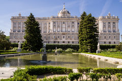 Royal palace in Madrid, Spain. Travel photography Stock Photography