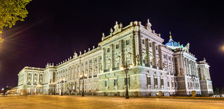The Royal Palace of Madrid in Spain Royalty Free Stock Photography