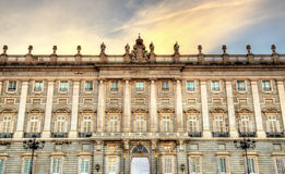 The Royal Palace of Madrid in Spain Stock Photo