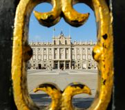 Royal Palace in Madrid, Spanien lizenzfreies stockfoto