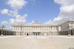Royal Palace Madrid, Spanien Lizenzfreie Stockfotos