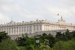 The Royal Palace of Madrid, Spain. The Royal Palace of Madrid Spanish: Palacio Real de Madrid is the official residence of the Spanish Royal Family at the city stock photos