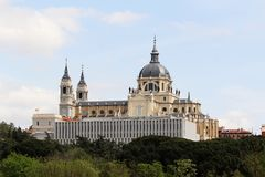 The Royal Palace of Madrid, Spain. The Royal Palace of Madrid Spanish: Palacio Real de Madrid is the official residence of the Spanish Royal Family at the city royalty free stock photo
