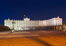 Royal Palace in Madrid Spanje royalty-vrije stock afbeelding