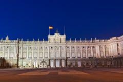 Royal Palace in Madrid Spanje stock afbeeldingen