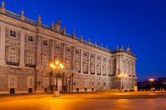 Royal Palace in Madrid Spanje Royalty-vrije Stock Fotografie