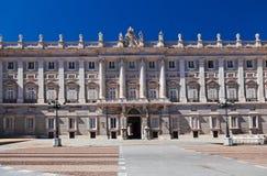 Royal Palace in Madrid Spanje royalty-vrije stock foto's
