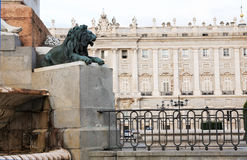 Royal Palace In Madrid Royalty Free Stock Photos