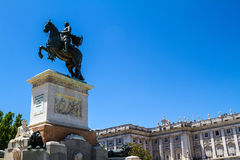Royal Palace Madrid Royalty Free Stock Photo