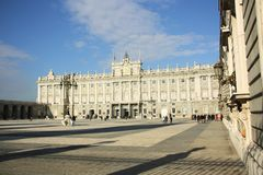 Royal Palace Madryt, Hiszpania Obraz Royalty Free