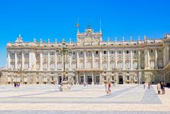 Royal Palace Madryt Palacio real de Madryt jest urzędnikiem Obraz Stock