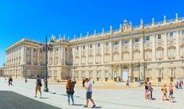Royal Palace Madryt Palacio real de Madryt jest urzędnikiem Obrazy Royalty Free