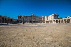 Royal Palace Madryt Palacio real de Madryt, urzędnik r Obraz Royalty Free