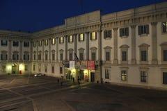 Royal Palace in Mailand Stockbilder