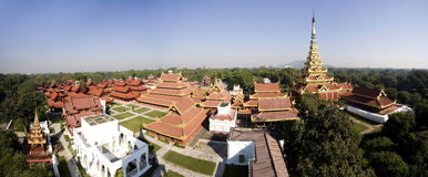 Royal Palace, Mandalay, vista panoramica Fotografia Stock