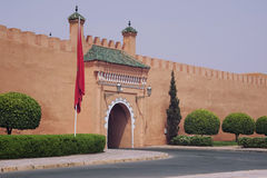 Royal Palace in Marrakech, Marokko Stock Afbeelding
