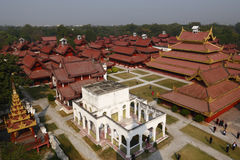 Royal Palace in Mandalay. The Royal Palace which is in Mandalya, Myanmar view from tower royalty free stock images