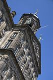 Royal Palace na tamie Obciosuje w Amsterdam Zdjęcie Royalty Free