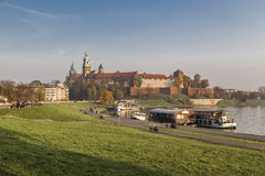 Royal Palace na Wawel wzgórzu Zdjęcie Stock
