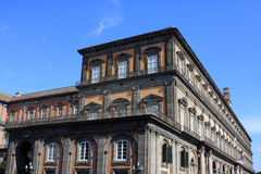 Royal Palace, Naples. Detail of The Royal Palace in Naples, Italy Stock Photos