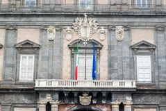 Royal palace of Naples Stock Photos