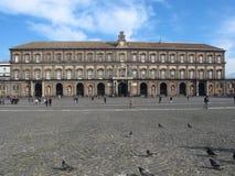 Royal palace naples campania Italy europe Royalty Free Stock Image