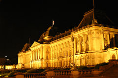 Royal Palace By Night. The Belgian Royal Palace in Brussels stock photo
