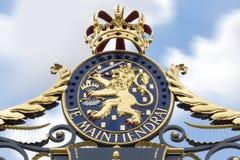 Royal Palace Noordeinde brama Obrazy Stock