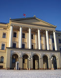 The Royal Palace, Norway. The Royal Palace of Norway on a winters day royalty free stock photos