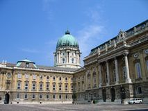 Royal Palace - o Budapest, Hungria Imagens de Stock Royalty Free
