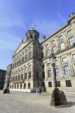 Royal Palace op het Vierkant van de Dam, Amsterdam Stock Foto's