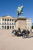 Royal Palace, Oslo Royaltyfri Foto