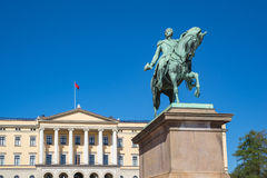 Royal Palace in Oslo city, Norway.  Royalty Free Stock Photography
