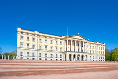 Royal Palace in Oslo city, Norway.  Stock Photo
