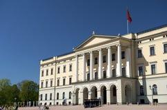 Royal Palace Oslo Noruega Fotos de archivo