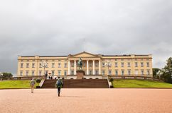 The Royal Palace in Oslo. Oslo, Norway-August 14, 2014 - The Royal Palace in Norwegian capital Stock Photos