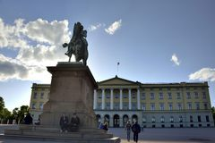 Royal Palace, Oslo Norway Royalty Free Stock Photography