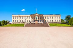 Oslo Royal Palace, Norway. Royal Palace in Oslo, Norway. Royal Palace is the official residence of the present Norwegian monarch Royalty Free Stock Photography