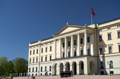 Royal Palace Oslo Norwegen Stockfotos