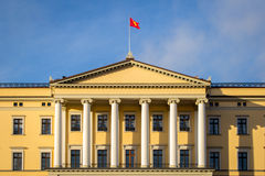 Royal palace in Oslo. The Royal Palace in Oslo is the Norwegian king's main residence.the castle has been guarded by Guardsmen 24 hours every day since 1945 Stock Photo
