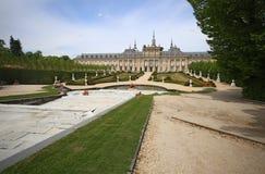 Royal Palace på La Granja de San Ildefonso i Segovia, Spanien Fotografering för Bildbyråer
