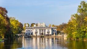 Royal Palace på vattnet Arkivfoton